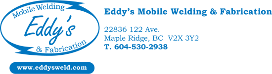 Eddy's Mobile Welding & Fabrication 604-530-2938 Logo
